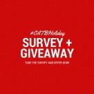 Enter the #CATBHoliday survey today!