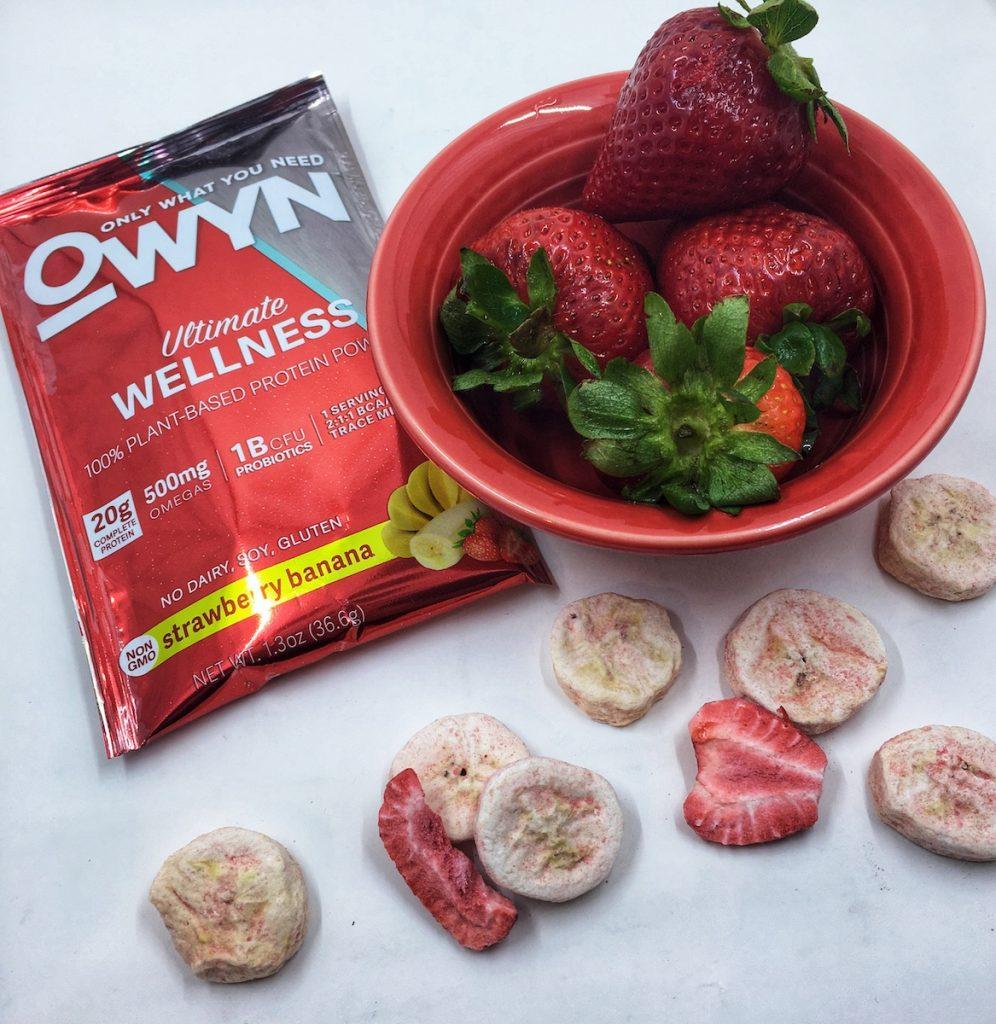 OWYN Strawberry Banana Smoothie Bowl