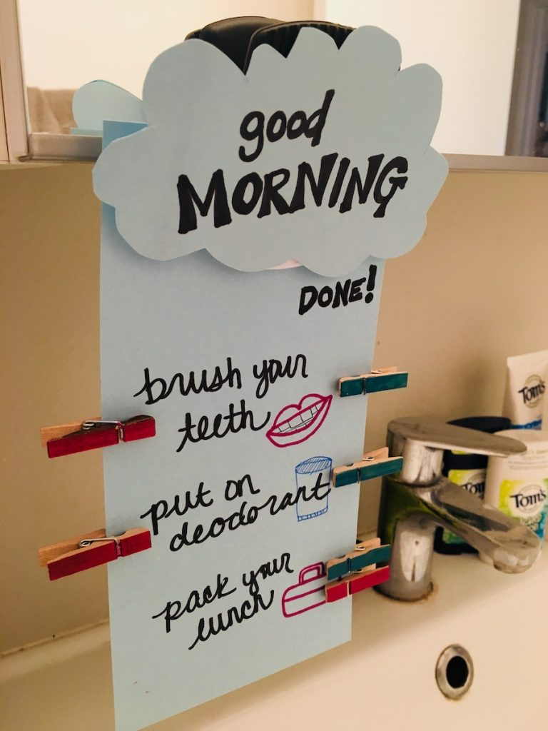 Tom's of Maine Good Morning DIY Chore Board