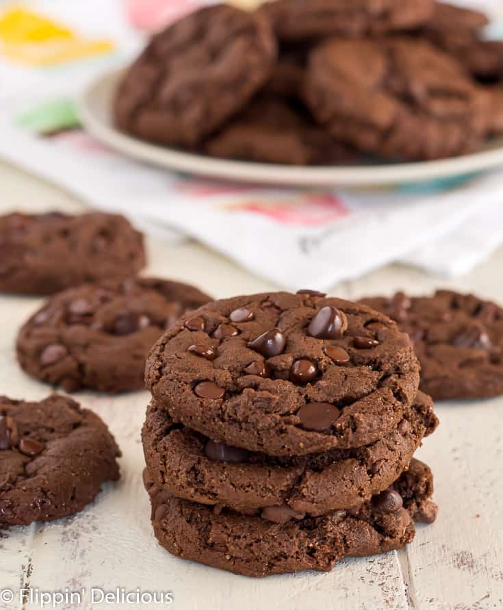 Gluten Free Double Chocolate Chip Cookie Flippin Delicious