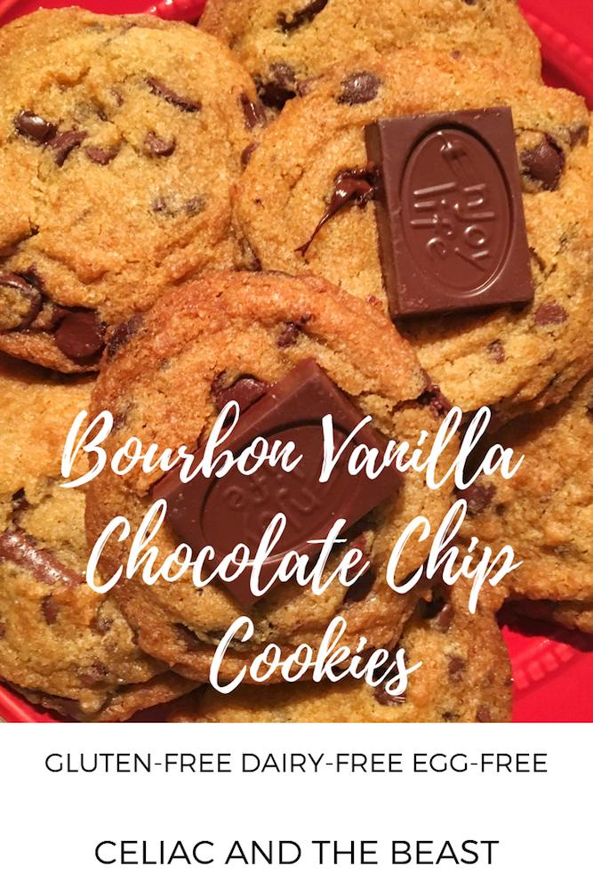 Bourbon Vanilla Chocolate Chip Cookies Gluten-Free Dairy-Free Egg-Free