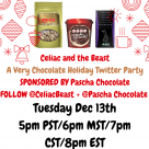 Celiac and the Beast Pascha Chocolate A Very Chocolate Holiday Twitter Party