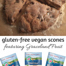 Celiac and the Beast presents gluten-free vegan scones with Graceland Fruit