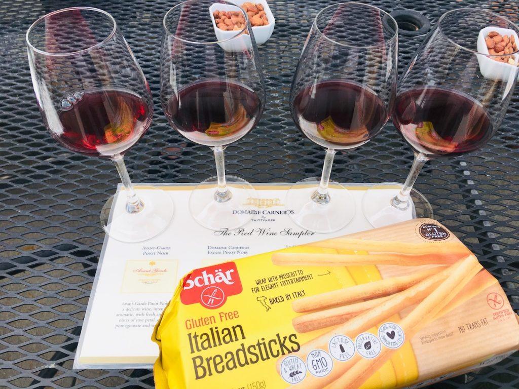 Wine Tasting Schar Breadsticks