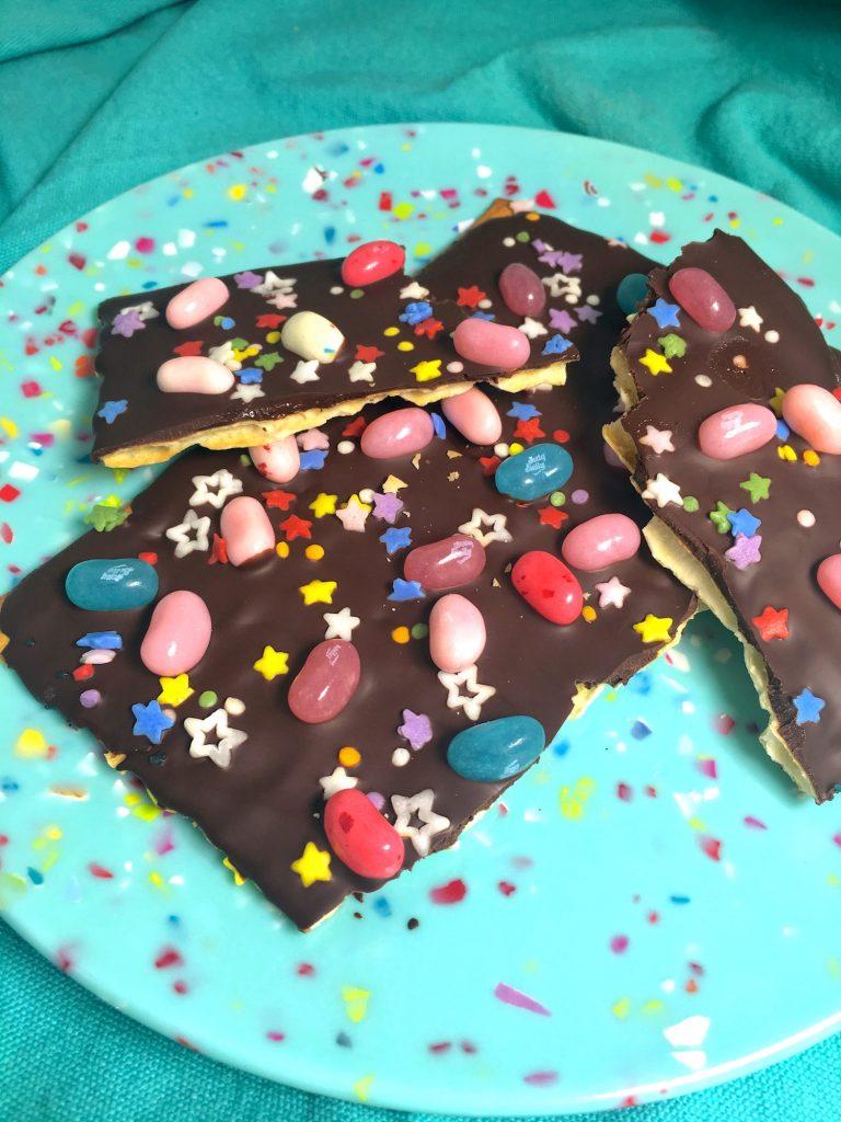 Gluten-Free Spring Bark Jellybeans and Sprinkles