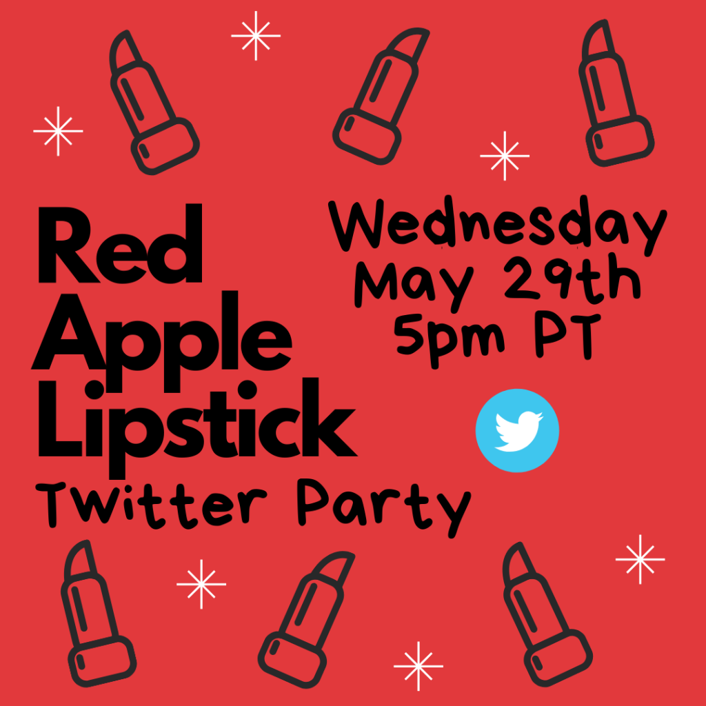 Red Apple Lipstick Twitter Party