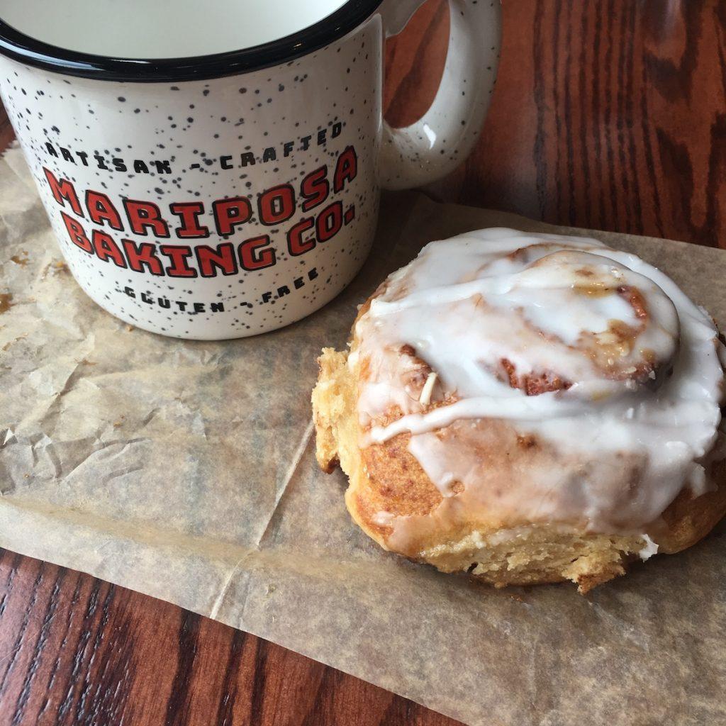 Mariposa Baking Company Cinnamon Roll with Coffee Mug
