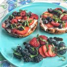 Balsamic Berry Bagel