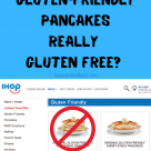 Gluten Friendly Menu Items at IHOP