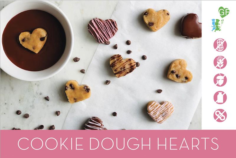 Little GF CHefs Cookie Dough Hearts recipe card